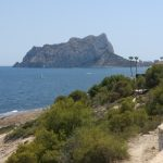 view towards Ifach rock
